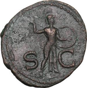 reverse: Claudius (41-54).. AE As. Claudius. Struck 41-circa 50 AD