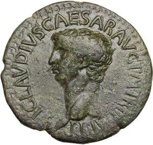 obverse: Claudius (41-54).. AE Dupondius, 50-54