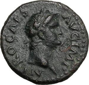 obverse: Nero (54-68).. AE Semis, 64 AD