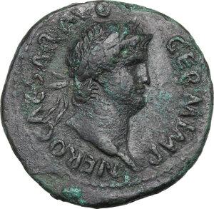 obverse: Nero (54-68).. AE As, 65 AD