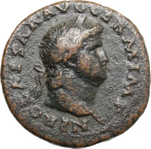 obverse: Nero (54-68).. AE As, 62-68
