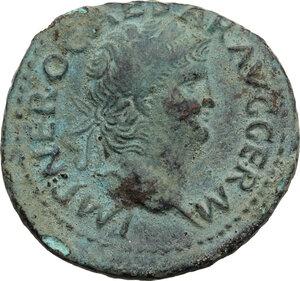 obverse: Nero (54-68).. AE As, C. 67 AD