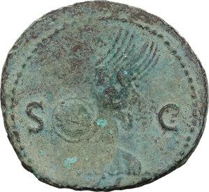 reverse: Nero (54-68).. AE As, C. 67 AD