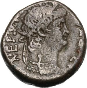 obverse: Nero (54-68).. BI Tetradrachm, Alexandria mint. Dated RY 11 (AD 64/65)