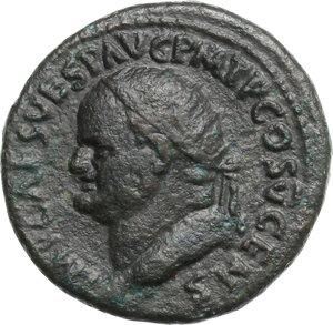 obverse: Vespasian (69-79).. AE Dupondius, 74 AD