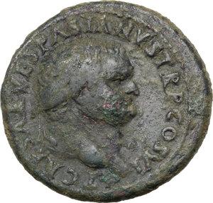 obverse: Titus as Caesar (69-79).. AE As, 77-78 AD