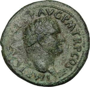 obverse: Titus (79-81).. AE As. Struck 80-81 AD