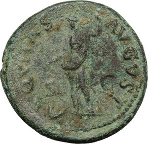 reverse: Titus (79-81).. AE As. Struck 80-81 AD