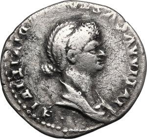 obverse: Julia Titi, daughter of Titus (died 90 AD). . AR Cistophorus, Ephesus mint (or Rome for circulation in Asia). Struck under Domitian, 82 AD