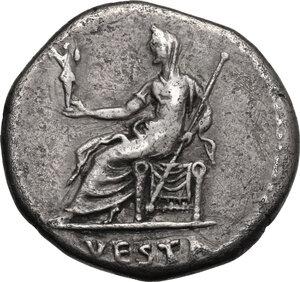 reverse: Julia Titi, daughter of Titus (died 90 AD). . AR Cistophorus, Ephesus mint (or Rome for circulation in Asia). Struck under Domitian, 82 AD