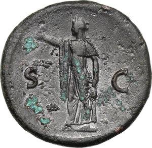 reverse: Domitian as Caesar (69-81).. AE As. Struck under Vespasian, 72-74