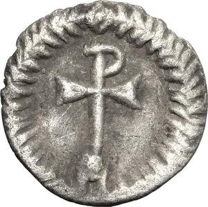 reverse: Justinian I (527-565).. AR 1/4 Siliqua, Ravenna mint