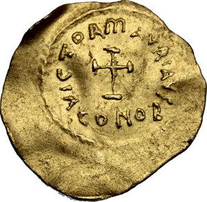 reverse: Maurice Tiberius (582-602).. AV Tremissis. Constantinople mint