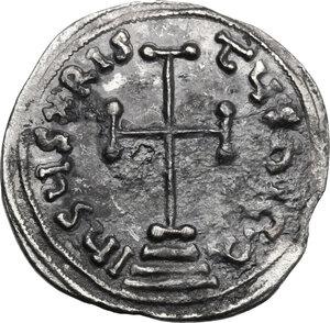 reverse: Leo IV the Khazar, with Constantine VI (775-780).. AR Miliaresion. Constantinople mint