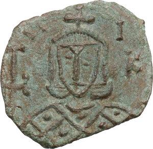 obverse: Nicephorus I with Stauracius (803-811).. AE Follis, Syracuse mint