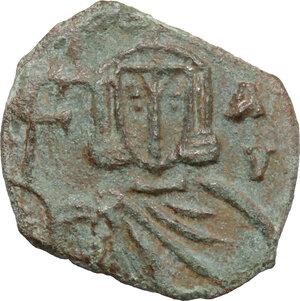 reverse: Nicephorus I with Stauracius (803-811).. AE Follis, Syracuse mint