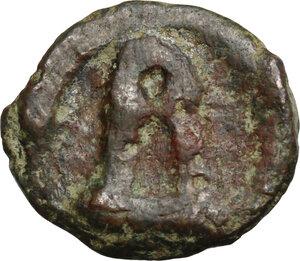 obverse: Basil I the Macedonian (867-886).. AE 19 mm. Cherson mint. Struck circa 879-886