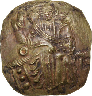 obverse: John III, Ducas-Vatatzes (1222-1254). AV Hyperpyron, Empire of Nicaea, Magnesia mint, 1232-1254