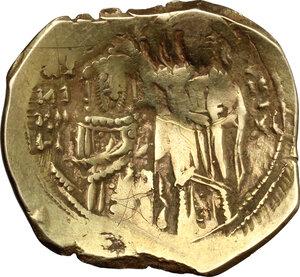reverse: John V Palaeologus, with Anna of Savoy (Regent). (1341-1391).. AV Hyperpyron, Constantinople mint. Struck 1341-1347 AD