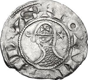 obverse: Antioch.  Bohemond III, Majority (1163-1201). AR Denier