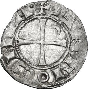 reverse: Antioch.  Bohemond III, Majority (1163-1201). AR Denier