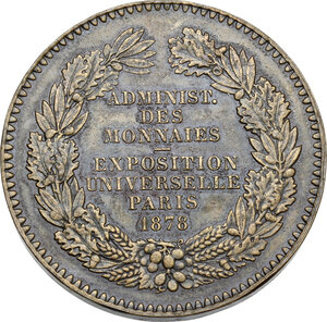reverse: France. Medal 1878 for the Universal Exposition