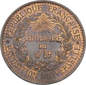 reverse: France.  Republic.. CU Medal for the Universal Exposition 1889 (CENTENAIRE DE 1789)