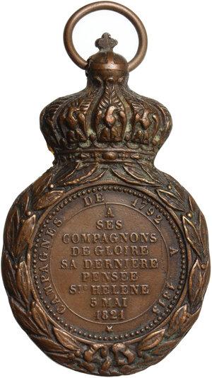 reverse: France.  Napoleon Bonaparte (1801-1815).. AE St-Helena-Medal, 1821