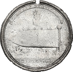obverse: Italy .  Innocenzo XI (1676-1689), Benedetto Odescalchi.. Tin cast medal from original reverse of papal medal for the Battle of Parkany, 1684