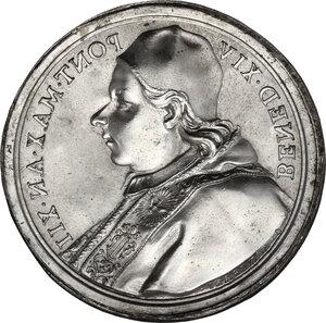 reverse: Italy .  Benedetto XIV (1740-1758), Prospero Lambertini.. Tin cast medal