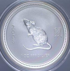 obverse: AUSTRALIA ELISABETTA II 1 DOLLARO 2008 TOPO AG. 31,11 GR. PROOF