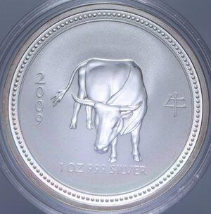 obverse: AUSTRALIA ELISABETTA II 1 DOLLARO 2009 BUE AG. 31,11 GR. PROOF
