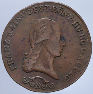 obverse: AUSTRIA FRANCESCO II 3 KREUZER 1812 B 11,17 GR. qBB/BB+