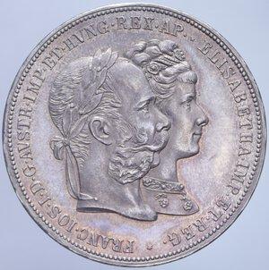 obverse: AUSTRIA FRANCESCO GIUSEPPE I 2 FLORIN 1879 NOZZE D ARGENTO AG. 24,69 GR. SPL