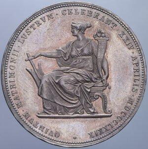reverse: AUSTRIA FRANCESCO GIUSEPPE I 2 FLORIN 1879 NOZZE D ARGENTO AG. 24,69 GR. SPL