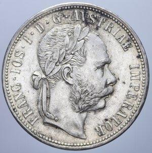 obverse: AUSTRIA FRANCESCO GIUSEPPE I 1 FIORINO 1877 AG. 12,38 GR. SPL-FDC