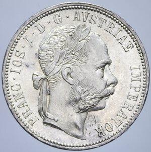 obverse: AUSTRIA FRANCESCO GIUSEPPE I 1 FIORINO 1881 AG. 12,37 GR. qFDC/FDC