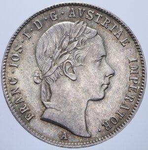 obverse: AUSTRIA FRANCESCO GIUSEPPE I 20 KREUZER 1853 A AG. 4,33 GR. qFDC