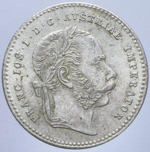 obverse: AUSTRIA FRANCESCO GIUSEPPE I 20 KREUZER 1868 A AG. 2,63 GR. qFDC/FDC