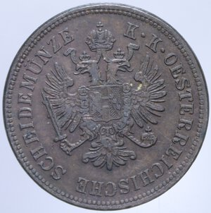 obverse: AUSTRIA FRANCESCO GIUSEPPE I 4 KREUZER 1860 A 12,21 GR. qSPL
