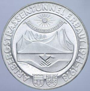 obverse: AUSTRIA 100 SCELLINI 1978 APERTURA TUNNEL DI ARLBERG AG.23,73 GR. FDC