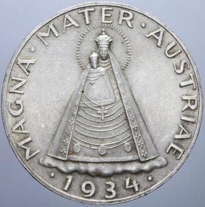 obverse: AUSTRIA 5 SCHILLING 1934 AG. 15 GR. qFDC