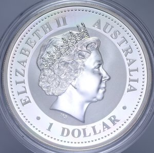 reverse: AUSTRALIA ELISABETTA II 1 DOLLARO 1999 CONIGLIO AG. 31,11 GR. PROOF