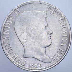 REGNO DELLE DUE SICILIE FERDINANDO II (1830-1859) PIASTRA 120 GRANA 1836 AG. 27,37 GR. MB-BB/BB