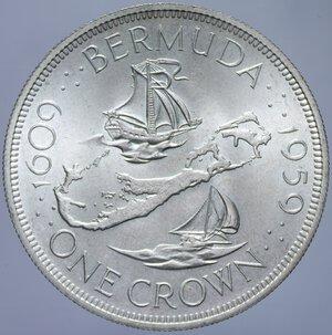 reverse: BERMUDA ELISABETTA II CROWN 1959 AG. 28,27 GR. FDC