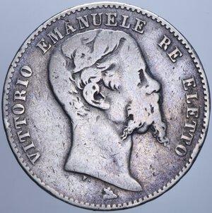 VITTORIO EMANUELE II (1859-1861) 2 LIRE 1860 FIRENZE R AG. 9,66 GR. MB/qBB
