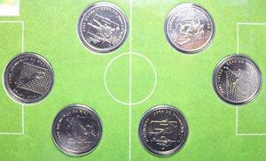 reverse: BRASILE COPA DE MUNDO DA FIFA BRASIL 2014 CONFEZIONE 6 PEZZI DA 2 REALES FDC