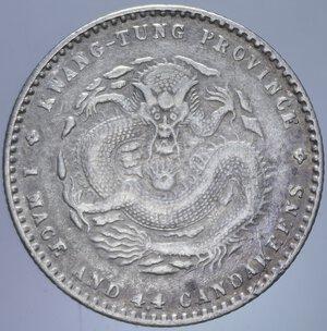 obverse: CINA KWANGTUNG 20 CENT. 1909-1911 AG. 5,39 GR. BB+