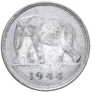 obverse: CONGO BELGA 50 FRANCHI 1944 AG. 17,36 GR. BB-SPL