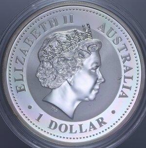 reverse: AUSTRALIA ELISABETTA II 1 DOLLARO 2003 CAPRA AG. 31,11 GR. PROOF
